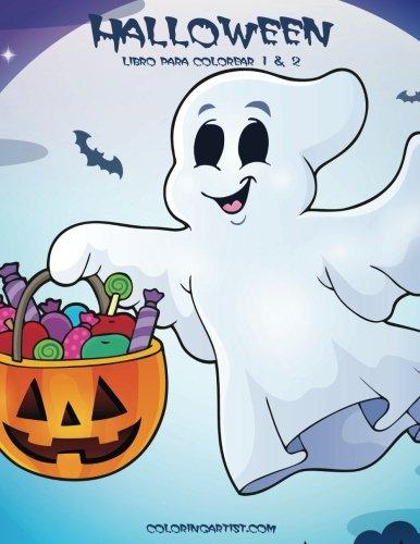 Halloween libro para colorear 1 & 2 (Spanish Edition) -