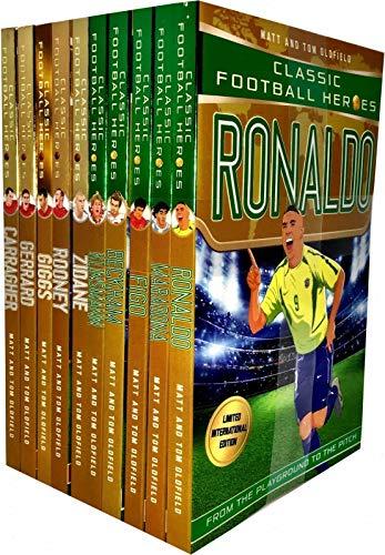 Classic Football Heroes Legend Series Collection 10 Books Set Pack by Matt & Tom Oldfield (Ronaldo, Maradona, Figo, Beckham, Klinsmann, Zidane, Rooney, Giggs, Gerrard, ()
