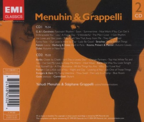 Menuhin & Grapelli Play Gershwin, Berlin, Kern, Porter, Rodgers & Hart and Others by Emi Classics