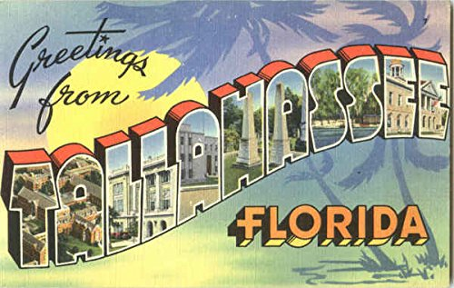 Greetings From Tallahassee Tallahassee, Florida Original Vintage Postcard from CardCow Vintage Postcards