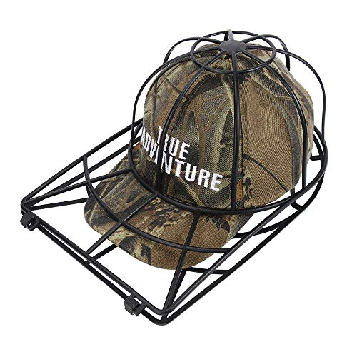 Baseball Cap Washer Great Hat Cleaner and Ball Cap Hat Washer. Clean Your Entire Collection From Your Cap Organizer, Hat Rack or Cap Holder Easily Cleans in Your Dishwasher or Washing Machine--BLACK (Best Way To Clean A Ball Cap)