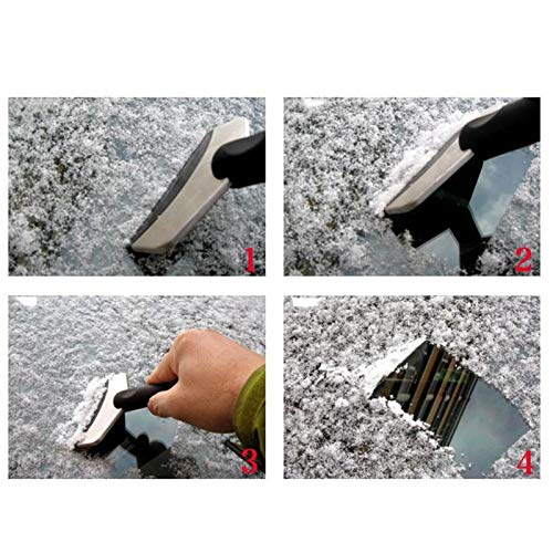 Cacys-Store - Stainless Steel Winter Car Care Accessories Car Window Windshield Snow Removal Scraper Ice Shovel Window Cleaning Brush