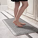 Licloud Anti-Fatigue Designer Comfort Kitchen Floor Mat Standing Mat (Black-white Plaid, 20x39x3/4-Inch)