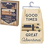 PBK Primitives by Kathy Camping Motorhome Bundle, Box Sign and Kitchen Towel