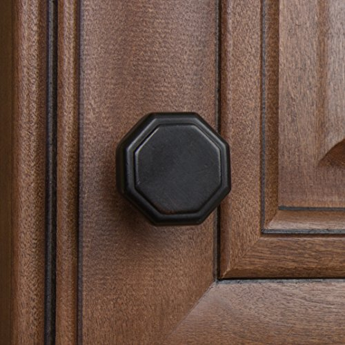 GlideRite Hardware 5330-ORB-25 1.125 inch Diameter Octagon Oil Rubbed Bronze Cabinet Knobs 25 Pack by GlideRite Hardware (Image #2)