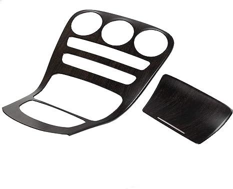 colore legno rovere set Console Gear Shift Copertura del pannello Trim Fit per Classe C W205 2pc Qii lu Shift Panel Cover
