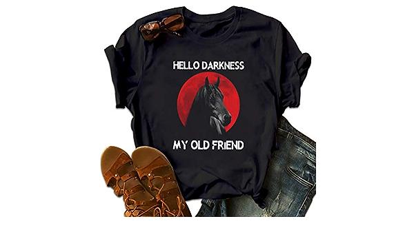 Hello Darkness My Old Friend venir Hommes Femmes Débardeur Tank Top Unisexe T Shirt 2497