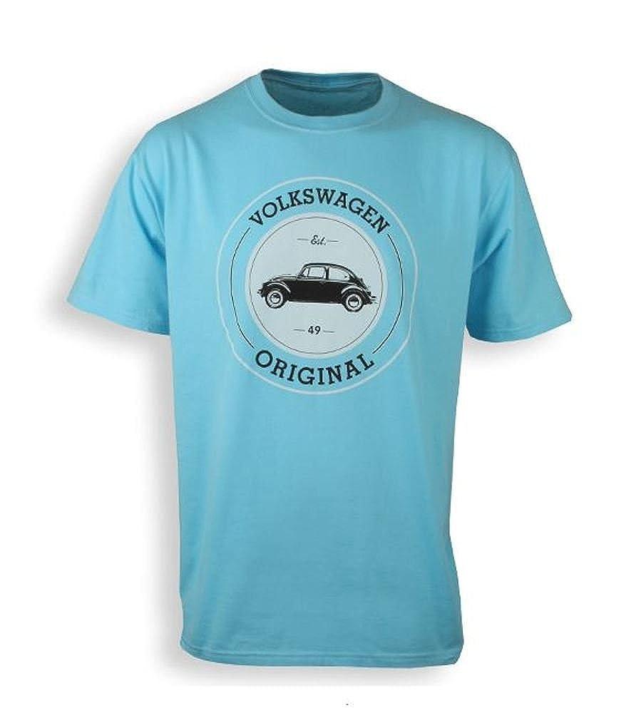 Volkswagen Genuine VW Original Beetle Tshirt Teal Blue X-Large