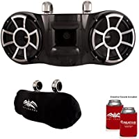 Wet Sounds REV 410 Swivel Clamp Tower Speakers with Suitz speaker Covers - BLACK