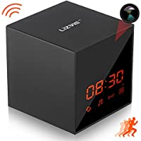 LIZVIE Hidden Spy Cube Clock Nanny Camera with Enhanced Night Vision, Wireless Speaker, Motion Detection, Invisible Lens, Video Recorder, FM Radio, 12&24 Alarm Clock(Pro Version with 32G SD Card)