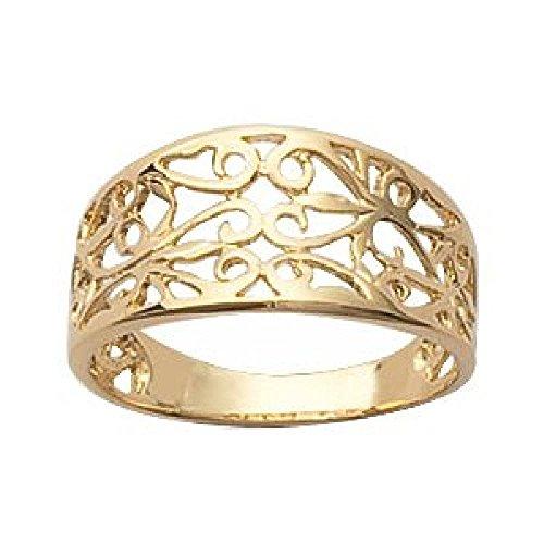 gold filigree ring - 5