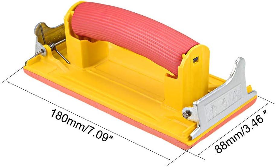 Metal Polishing Drywall Hand Sander with Sponge Handle 2 Pack Katfort 7.28 x 3.54 Inch Sandpaper Holder Sanding Block Sander for Wood