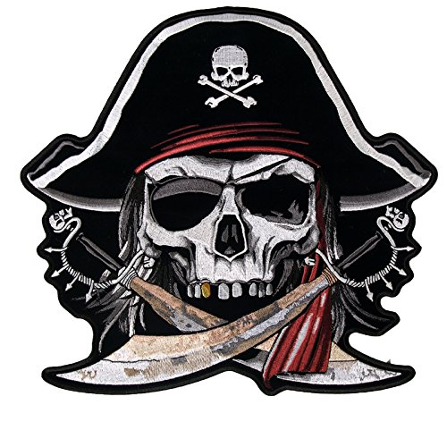 Hot Leathers Pirate Skull Patch (Multicolor, 5