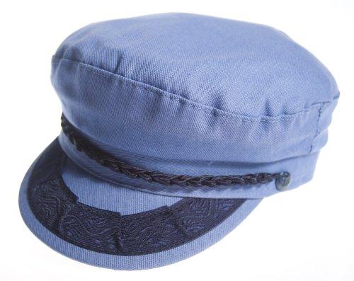 (Aegean Authentic Greek Fisherman's Cap - Blue Denim - Size 58 - (7)