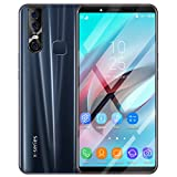 AckfulEight Core 6.3 inch Dual HDCamera Smartphone Android 9.1 4GB Touch Screen WiFi Bluetooth GPS 3G Call Mobile Phone (Black)