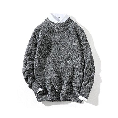 Jdfosvm Langarm - Pullover mit Langen ärmeln für männer und Frauen,schwarz,4XL