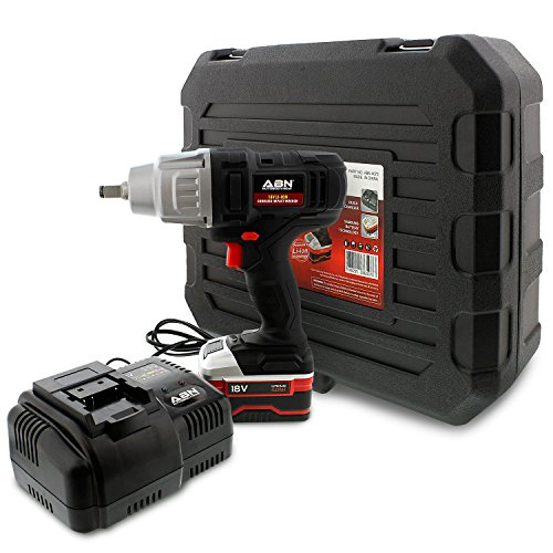 ABN Cordless Impact Wrench Kit – 18 Volt Impact Wrench 1/2 Inch with 4.0Ah Lithium-Ion Battery