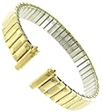 Speidel 10-13mm Women Yellow Gold Gp Replacement Watch Band Xl