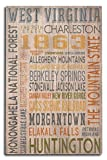 Lantern Press West Virginia – Rustic Typography (10×15 Wood Wall Sign, Wall Decor Ready to Hang) Review