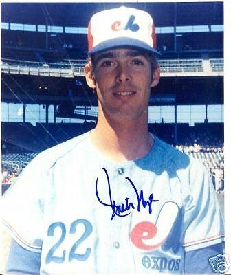 Autographed Rich Nye Picture   Montreal Expos 8X10 W Coa   Autographed Mlb Photos