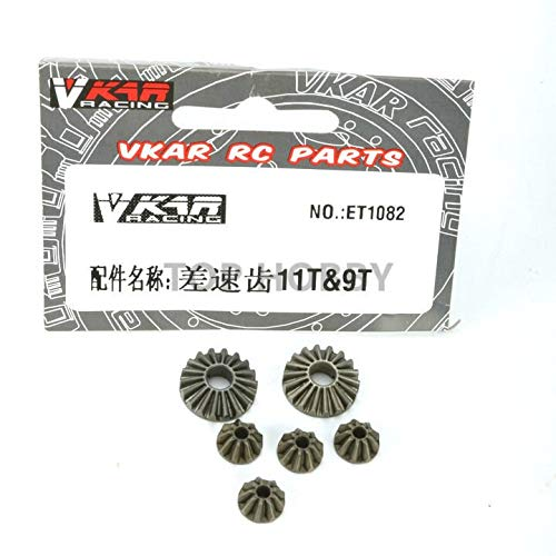 (Part & Accessories Vkar racing 1/10 bison rc truck cars share part Metal differential tooth 11T/9T et1082)
