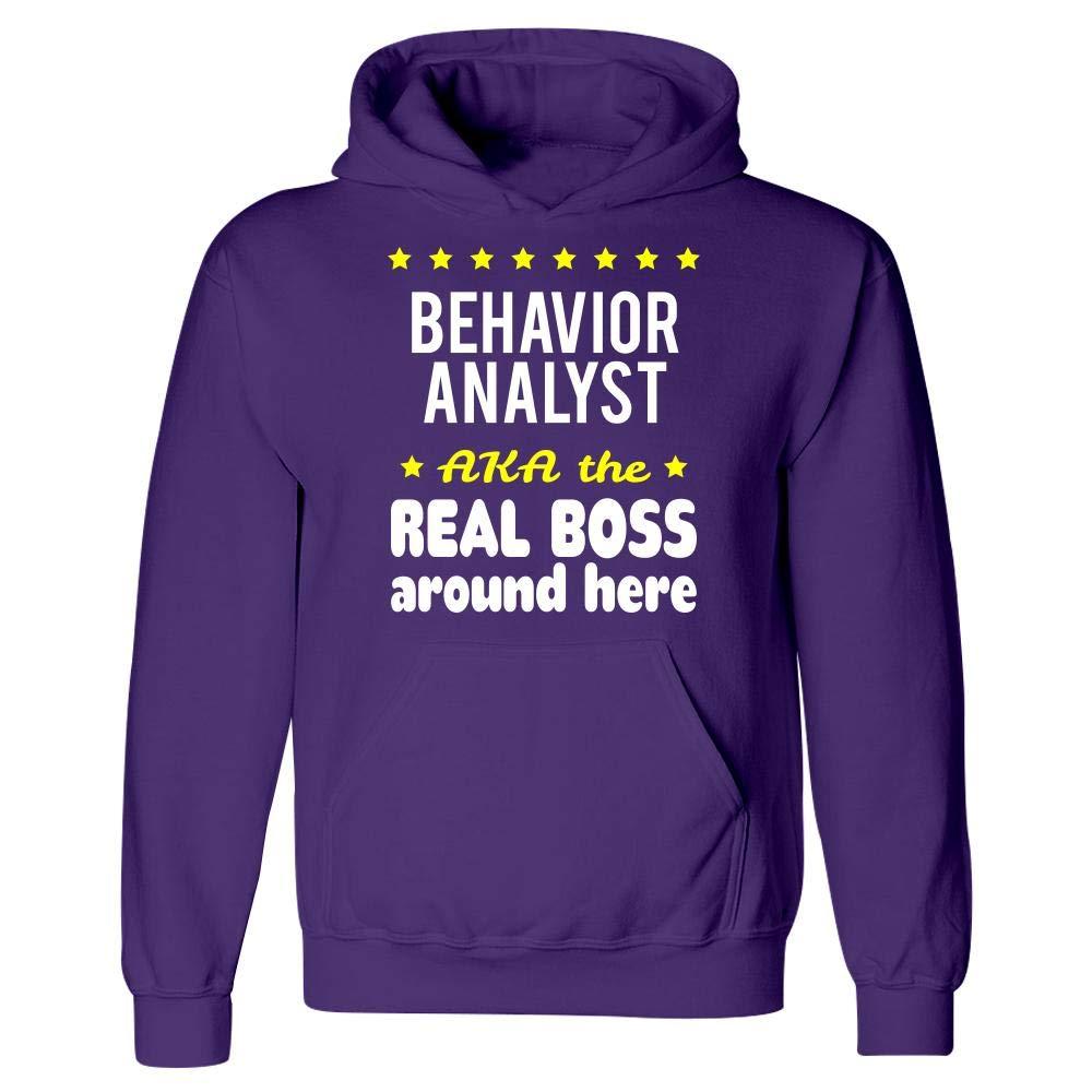 Behavior Analyst AKA The Real Boss Around Here Hoodie Purple