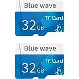 Docooler 32GB Memoria ad alta velocità della carta di TF della carta di TF della classe 10 della carta di memoria di capacità di alta velocità per lo smartphone (Due pezzi)