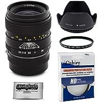 Oshiro 35mm f/2 LD UNC AL Wide Angle Full Frame Prime Lens with Hood, UV, Microfiber for Sony NEX E-Mount a7r, a7s, a7, a6000, a5100, a5000, a3000, NEX-7, 6, 5T, 5N, 5R, 3N Digital Cameras (EOS-NEX)