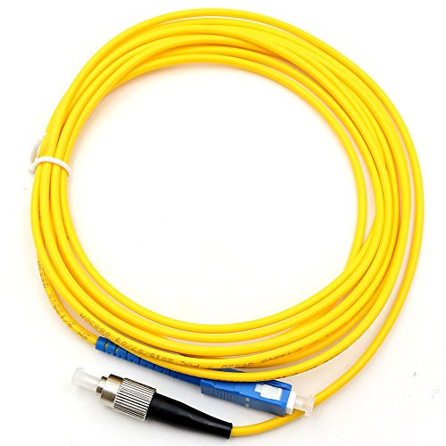 TEZONG 3M 9ft SC to FC Male Fiber Optic Cable Single Mode Simplex Fiber Patch Cable Jumper Cord 9/125 3.0MM 1Pack ()