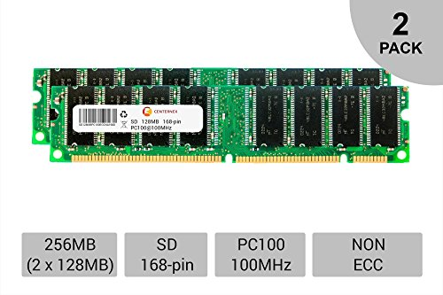 256MB KIT 2 x 128MB DIMM SD NON-ECC PC100 100 100MHz 100 MHz SDRam Ram Memory by CENTERNEX 256mb Pc100 Ecc Dimm Memory