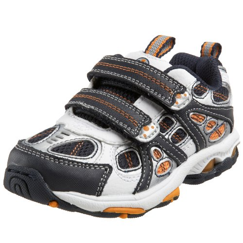 Stride Rite Superball Zoom Sneaker (Toddler/Little Kid),Navy/Mandarin/White,11 M US Little Kid