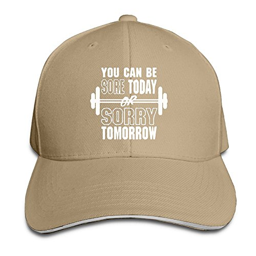 STIMHWHH You Can Be Sore Today Sorry Tomorrow Gym Outdoor Trucker Cotton Cap Adjustable