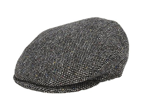 - Hanna Hats Men's Donegal Tweed Vintage Cap Gray Salt & Pepper XL