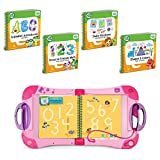 LeapFrog LeapStart Interactive Learning System Pink Preschool and Pre-Kindergarten for Kids Ages 2-4, + Level 1 Set of Educational Learning Basic Skills for Life Fun Activity Bundle