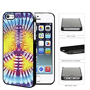 Colorful Peace Sign Tie Dye Pattern Hard Snap on Phone Case Cover iPhone i5 5s