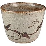 熊本千治(Chiharu Kumamoto) 絵唐津蕎麦猪口 唐津焼 陶器(直径約8cm 高さ約6cm)