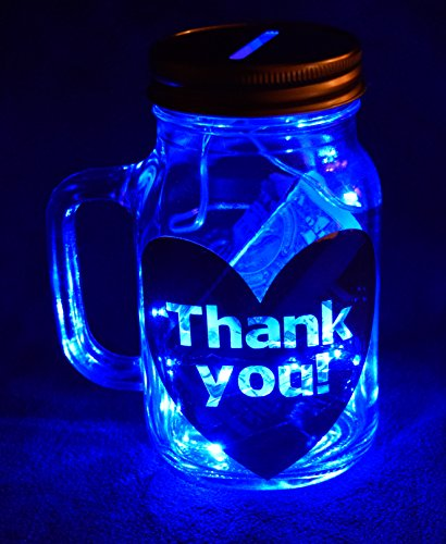 (Illuminated Tip Jar for Uber Drivers (Blue))