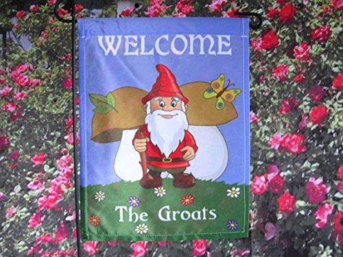 Personalized Gnome Flag, Garden or House Flag, Gnome Flag, Funny Snowman Flag, Christmas Yard Decor Flag.