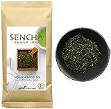 Zen no Ocha Sencha tea - Japanese loose leaf Organic Green tea 3.53oz 100g (Made in Shizuoka Japan)