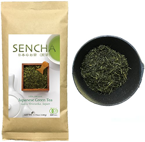 Zen no Ocha Sencha tea - Japanese loose leaf Organic Green tea 3.53oz 100g (Made in Shizuoka Japan)