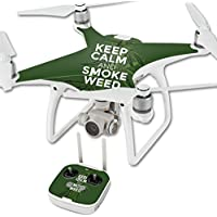 Skin For DJI Phantom 4 Quadcopter Drone – Smoke Weed | MightySkins Protective, Durable, and Unique Vinyl Decal wrap cover | Easy To Apply, Remove, and Change Styles | Made in the USA