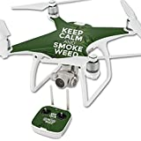 MightySkins Skin for DJI Phantom 4 Quadcopter Drone – Smoke Weed | Protective, Durable, and Unique Vinyl Decal wrap Cover | Easy to Apply, Remove, and Change Styles | Made in The USA Review