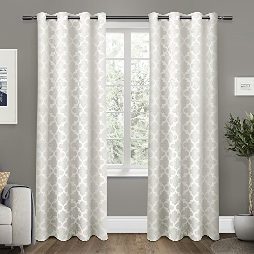 Exclusive Home Cartago Insulated Woven Room Darkening Grommet Top Window Curtain Panels, Vanilla, Set of 2 / Panel Pair 2 – 54″ x 96″