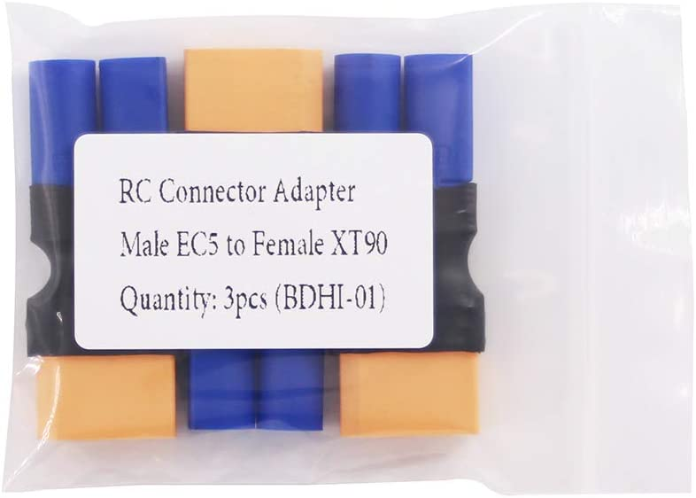 3pcs Male EC5 to XT90 Heavy Duty Connector Adapter BDHI-01 XT-90 Female