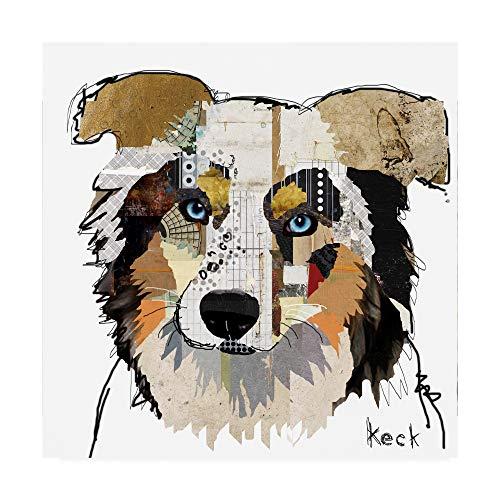 (Trademark Fine Art Australian Shepherd Color by Michel Keck,)
