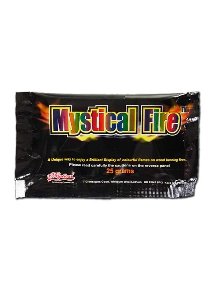 Mystical Fire Flame Colorant Vibrant Long-Lasting Pulsating Flame Color Changer for Indoor or Outdoor Use 25 g Packets 2 Pack