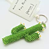 Adorable Handcrafted CACTUS Flower Key Chain / Backpack Charm / Purse Charm / Key Ring
