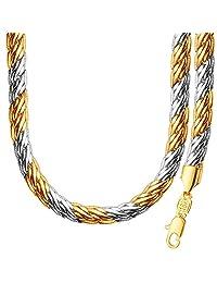 Fashion Accessories 18K Gold Platinum Plated Tow Color Necklace Bracelet Sets Gift NB60089