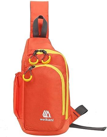WFDA Mochila de Hombro en el Pecho Sling Bag Pack, Mochila Mochila de Senderismo Crossbody para el Pecho Deportivo Mochila Escolar Mochila Escolar para Hombres, Mujeres para Viajar al Aire Libre: Amazon.es: