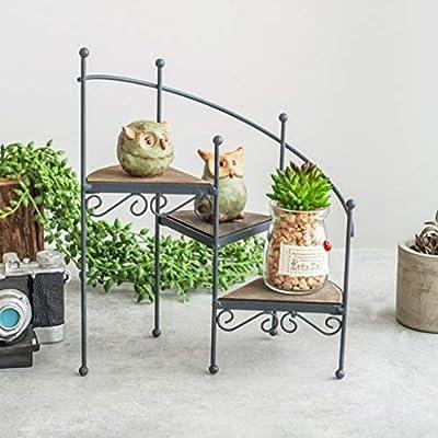 CJH Futie Ancient Art Escalera de Caracol Soporte de Flores Inicio Carnosas Pequeñas macetas Adornos Estante for Piso: Amazon.es: Hogar